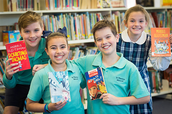 St Therese Catholic Primary School Mascot News and Events Morris Gleitzman visit enlivens book week 2