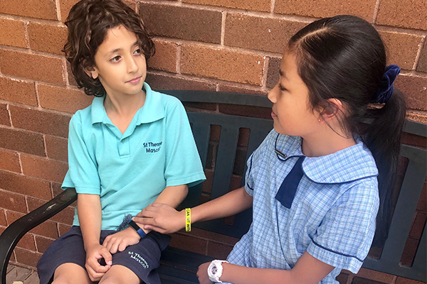 St Therese Catholic Primary School Mascot Student Showcase Student Wellbeing You Can Sit With Me Program