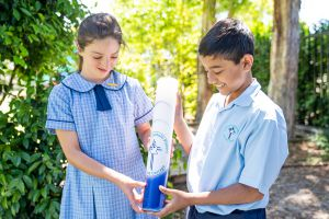 St Therese Mascot Catholic Primary School Shared Mission Students holding candle