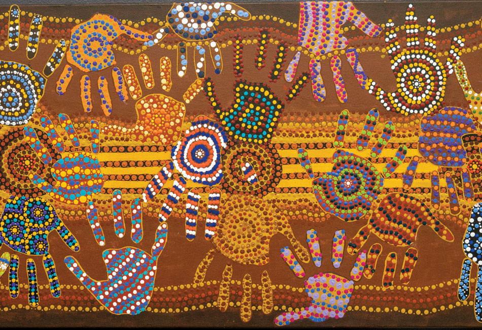 St Therese's Catholic Primary School Mascot Indigenous students' hand drawings have been immortalised in a plaque